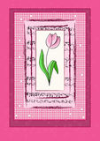 Greeting card. Vector greeting card with flower Stock Image