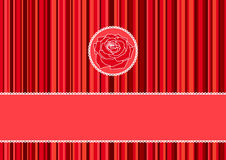 Greeting card. With red roses vector illustration Royalty Free Illustration
