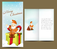 Greeting card. Christmas catalog template or corporate brochure design Vector Illustration