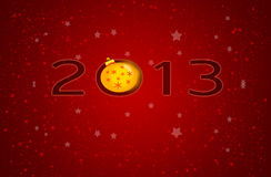 Greeting card. 2013 Happy New Year greeting card Stock Photography
