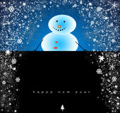 Greeting card. Merry Christmas and Happy New Year Card Royalty Free Stock Photos