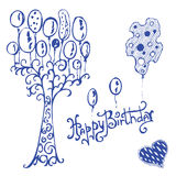Greeting Card. Happy birthday royalty free illustration