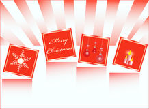 Greeting card. Illustration of greeting card, red Royalty Free Stock Image
