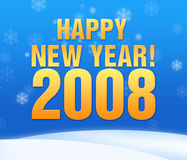 Greeting card. Happy new year greeting card, 2008 Stock Photo