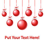 Greeting card. Christmas greeting card with xmas balls Royalty Free Stock Photos