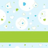 Greeting card. With cute pattern Stock Photos