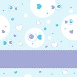 Greeting card. With cute pattern Stock Images