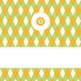 Greeting card. With harlequin pattern Stock Photography