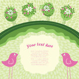 Greeting card. Vector illustration with place for your text Stock Photography