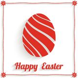 Greeting card with abstract easter egg and Happy Easter text. Vector illustration stock illustration
