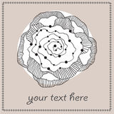 Greeting card with abstract flower and text field. Vector illustration Royalty Free Stock Image