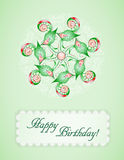 Greeting card with abstraction. Stock Images
