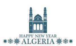 Greeting Card Algeria. Vector Illustration. illustration EPS Stock Images