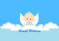 Greeting card with the angel Royalty Free Stock Photography