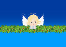 Greeting card with an angel Stock Photos