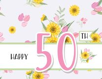 Greeting card for anniversary birthday Royalty Free Stock Photo