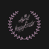 Greeting card 16 April, isolated calligraphy lettering, Happy Easter, word design template. Stock Photography