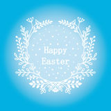 Greeting card 16 April, isolated calligraphy lettering, Happy Easter, word design template. Royalty Free Stock Photo