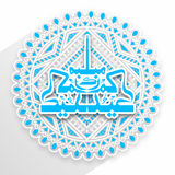 Greeting Card with Arabic Text for Eid celebration. Royalty Free Stock Image