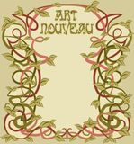 Greeting card in art nouveau style, vector. Illustration Royalty Free Stock Photography