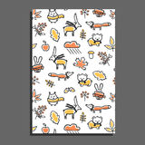 Greeting card with autumn pattern. Vector illustration Stock Photo