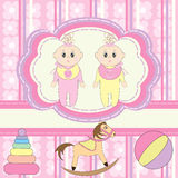 Greeting card for babies Royalty Free Stock Images