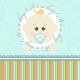 Greeting card for babies Royalty Free Stock Photo