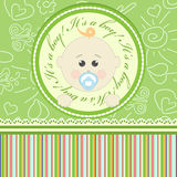 Greeting card for babies Royalty Free Stock Photography