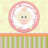 Greeting card for babies Royalty Free Stock Image