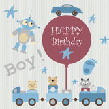 Greeting card for baby3 Royalty Free Stock Photo