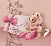 Greeting card for baby birth Royalty Free Stock Photo