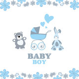 Greeting card for baby boy Stock Image