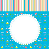 Greeting card for baby or child with pattern Stock Photography