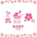 Greeting card for baby girl Royalty Free Stock Images