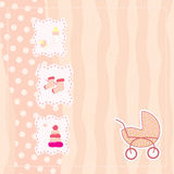 Greeting card for baby girl Stock Images