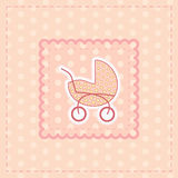 Greeting card for baby girl Royalty Free Stock Photography