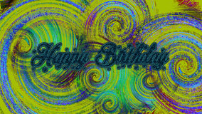 Greeting Card Background And Gift Tags. Happy Birth. Nice Color Combination. Can be use for print, Presentation, personal and Commercial use Stock Image