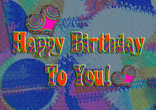 Greeting Card Background And Gift Tags. Happy Birth Stock Photos