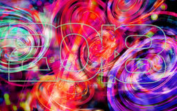 Greeting Card Background And Gift Tags.Happy new year Stock Image