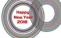 Greeting Card Background And Gift Tags.Happy new year. 2018 Happy New Year greeting card.Colorful backgrounds vector illustration