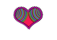 Greeting Card Background And Gift Tags. Love Hearts Stock Images