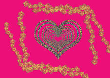 Greeting Card Background And Gift Tags. Love Hearts Royalty Free Stock Photos