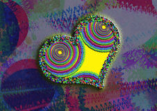 Greeting Card Background And Gift Tags. Love Hearts Royalty Free Stock Images