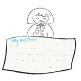 Greeting card background for Mother's Day Stock Image