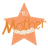 Greeting card background for Mother's Day Stock Photography