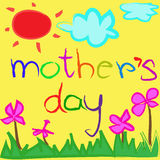 Greeting card background for Mother's Day Royalty Free Stock Images