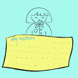 Greeting card background for Mother's Day Stock Photos