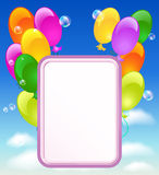 Greeting card with balloons Royalty Free Stock Photos