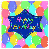Greeting card with balloons. Greeting card with colorful balloons Stock Images