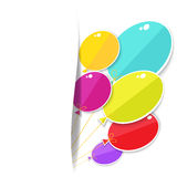 Greeting card with a balloons. Stock Photography